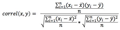 Equation - Correlation Coefficient decomposed