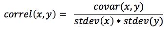 Equation - Correlation Coefficient