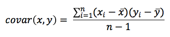 Equation -Covariance