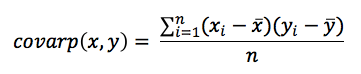 Equation - Covariance for Populations