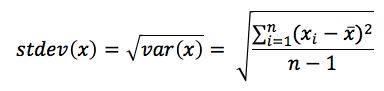 Equation - Standard Deviation